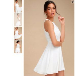 LULU'S - NWT Lace Skater Dress